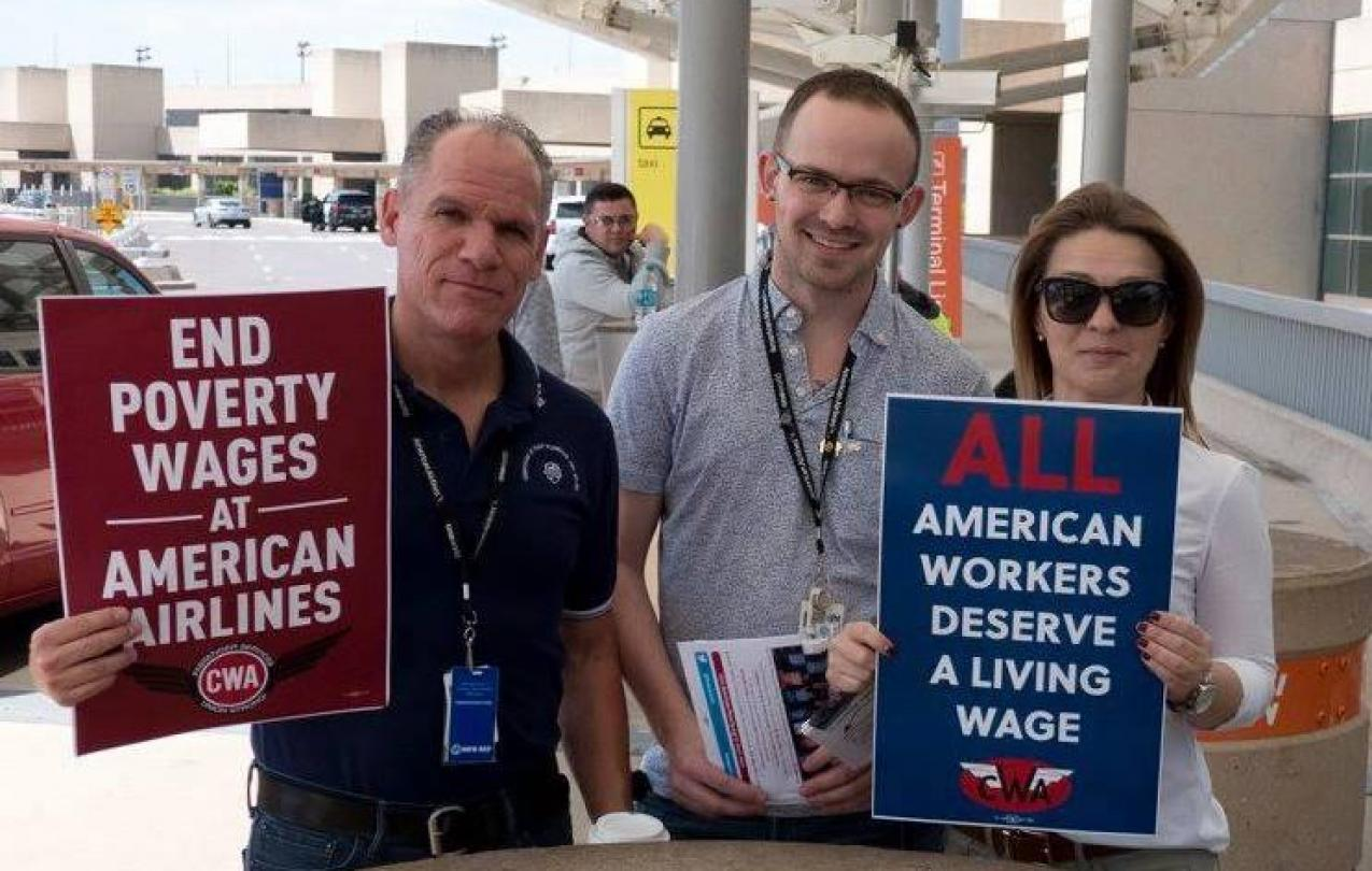Envoy Agents at DFW protest