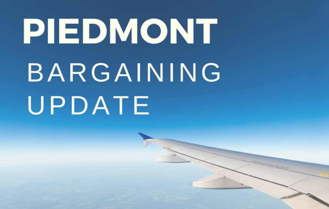 Piedmont Bargaining Update