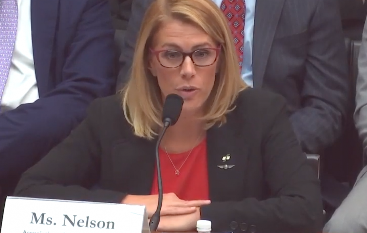 Sara Nelson before Congress -Sept2019