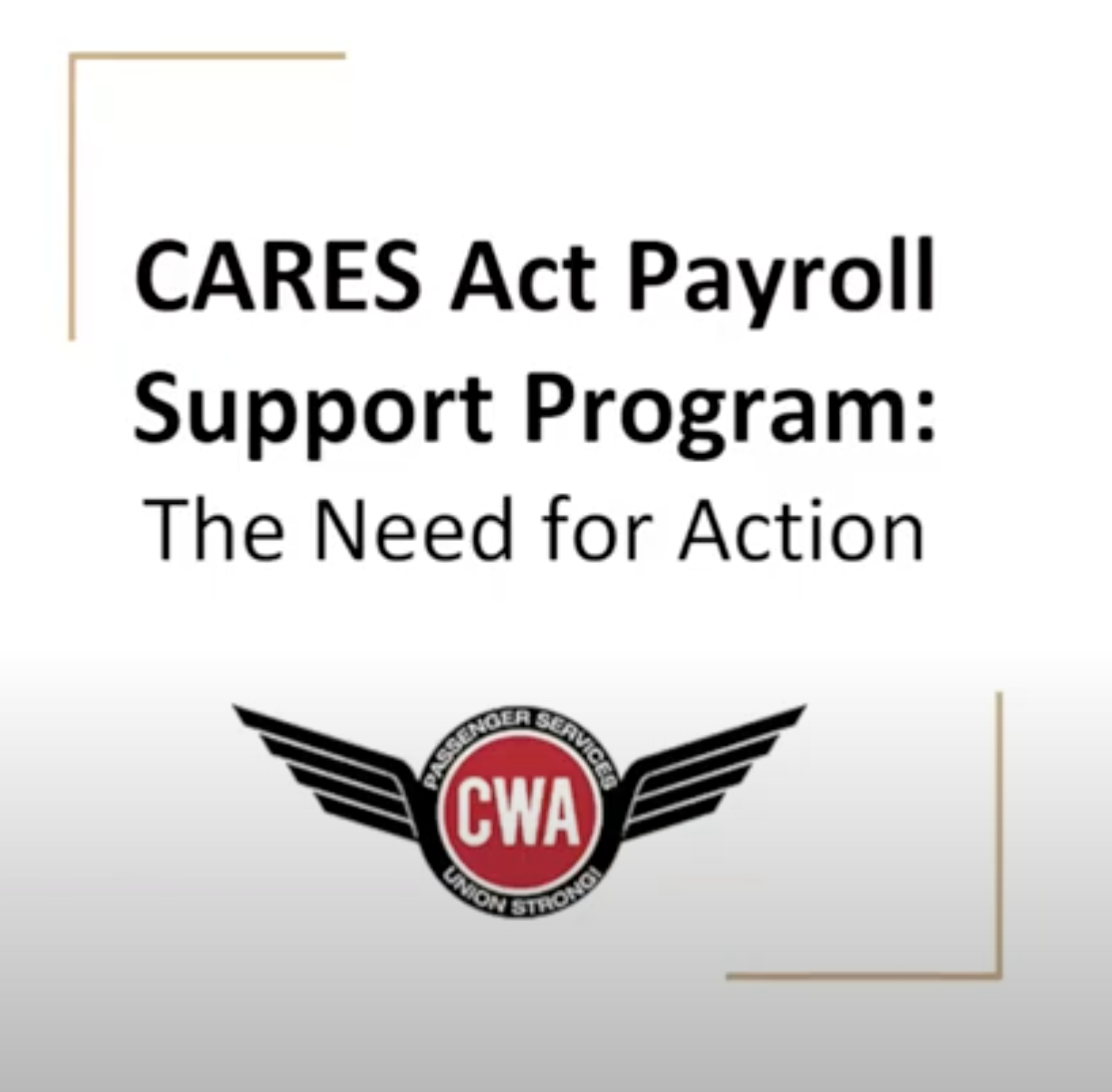 Cares Act Support